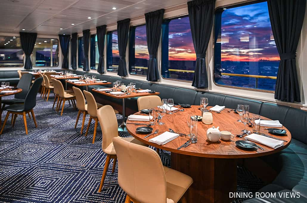 Coral Adventurer Dining Room Views