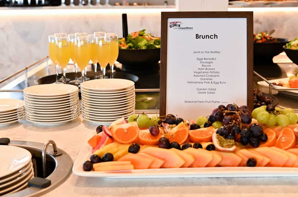 Brunch on board Coral Expeditions Ships