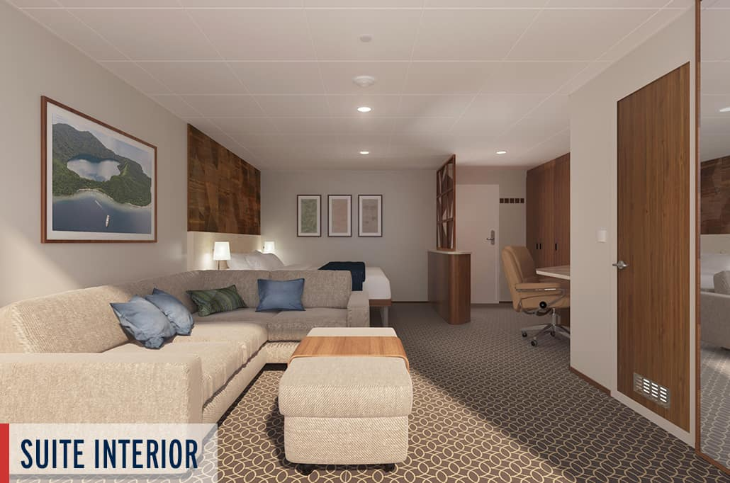 Coral Geographer Suite Interior Render 2
