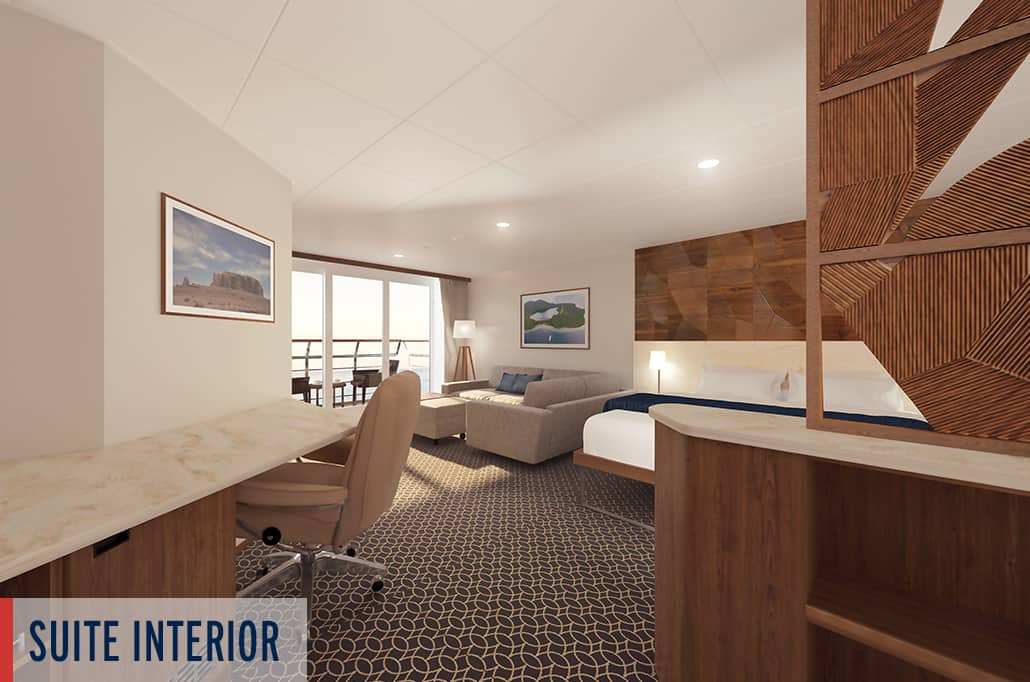 Coral Geographer Suite Interior Render 3