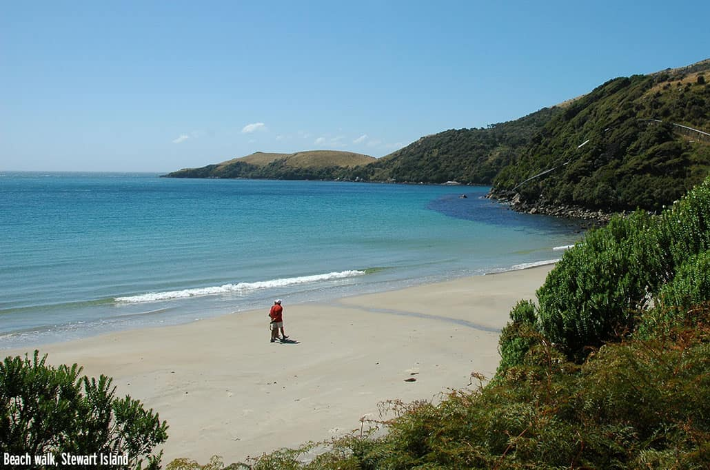 Beach walk, Stewart Island, New Zealand