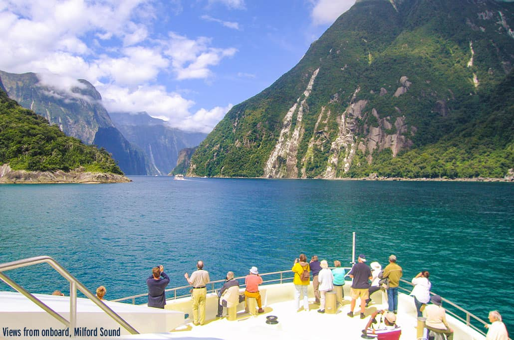 Views From Onboard Milford Sound New Zealand