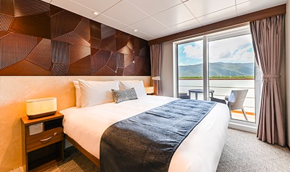 Coral Geographer's Explorer Deck Balcony Stateroom