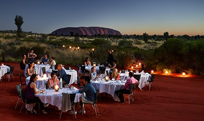 Dinner Under Stars At Uluru Coral Expeditions