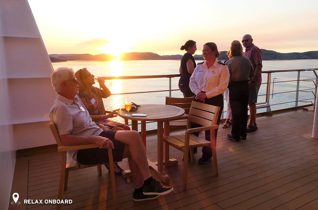 The Kimberley - Relax Onboard